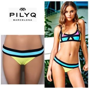 PILYQ Sunburst banded teeny bikini bottoms. NWT